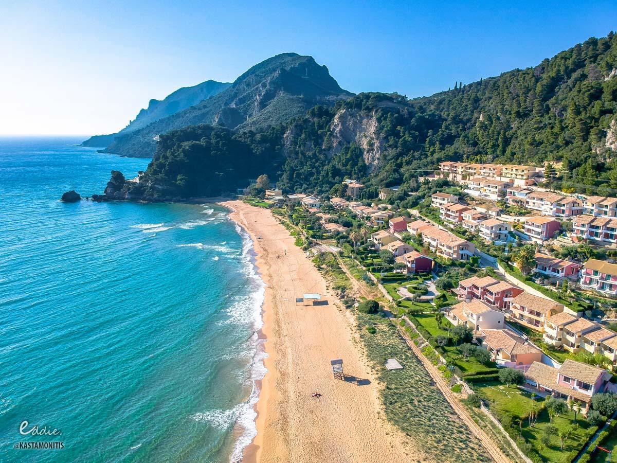 visit corfu beaches glyfada