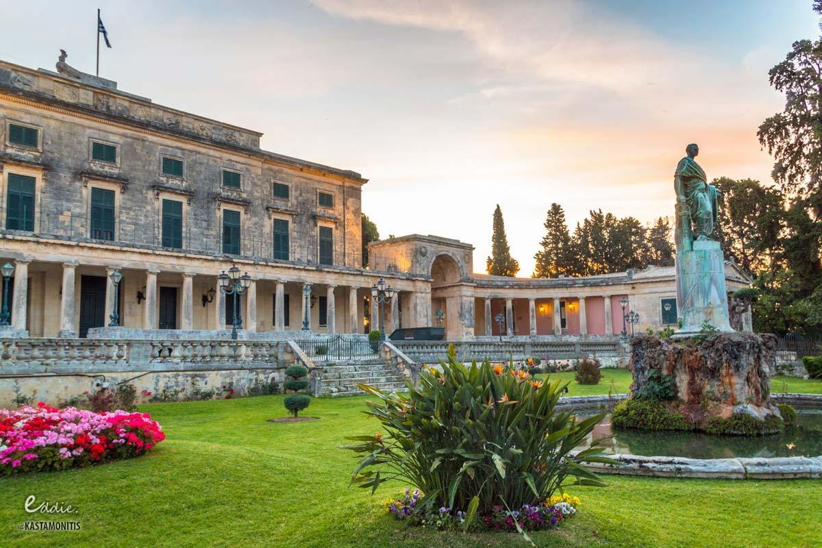 visit corfu beaches king miachael george palace