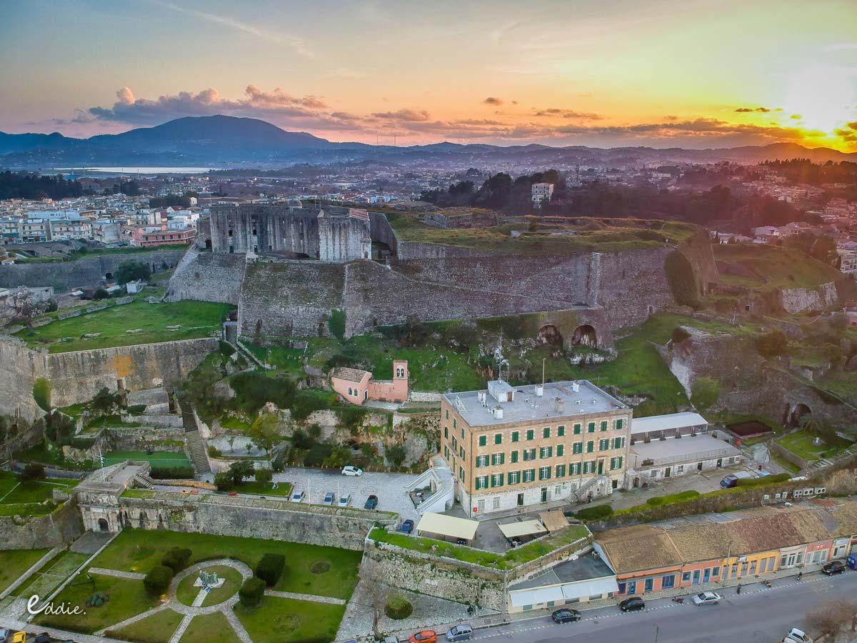 visit corfu sights new fortress