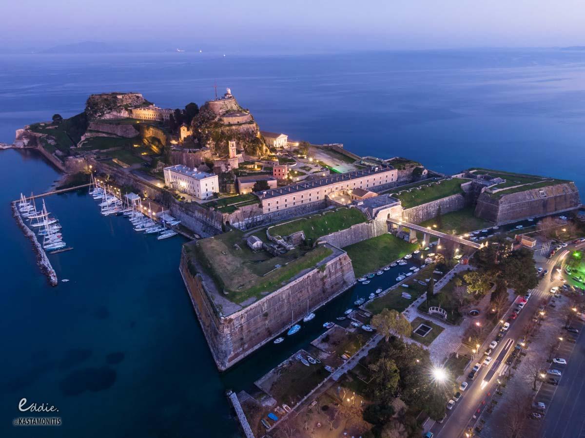 visit corfu sights old fortress
