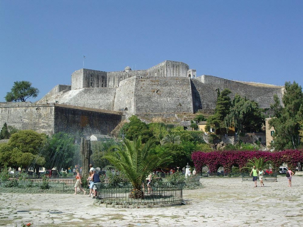 Corfou ville nouvelle citadelle