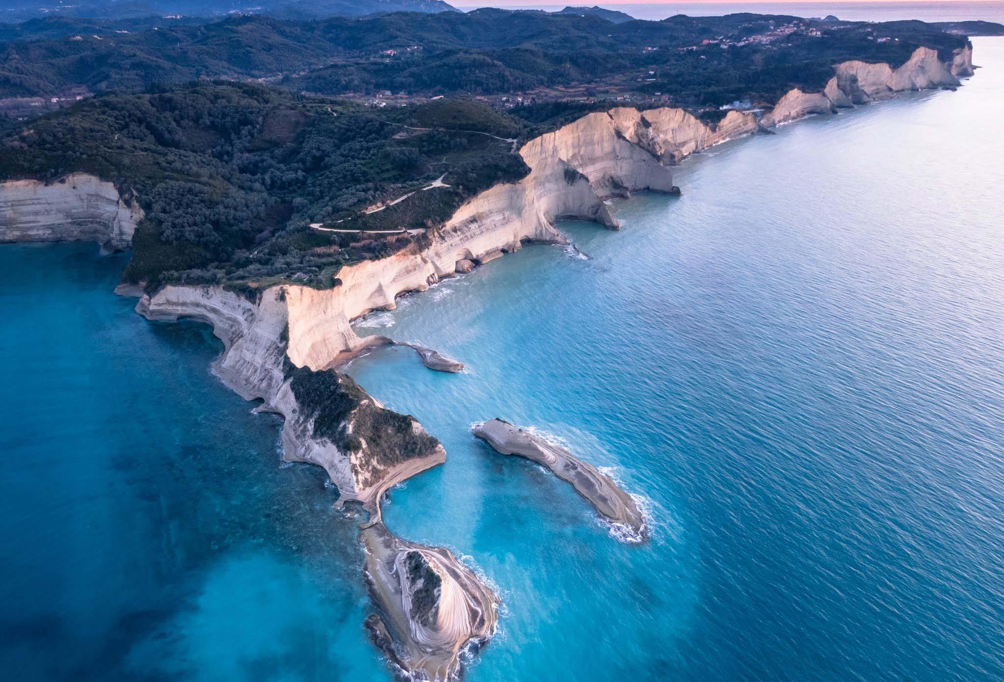 corfu impressive coastline