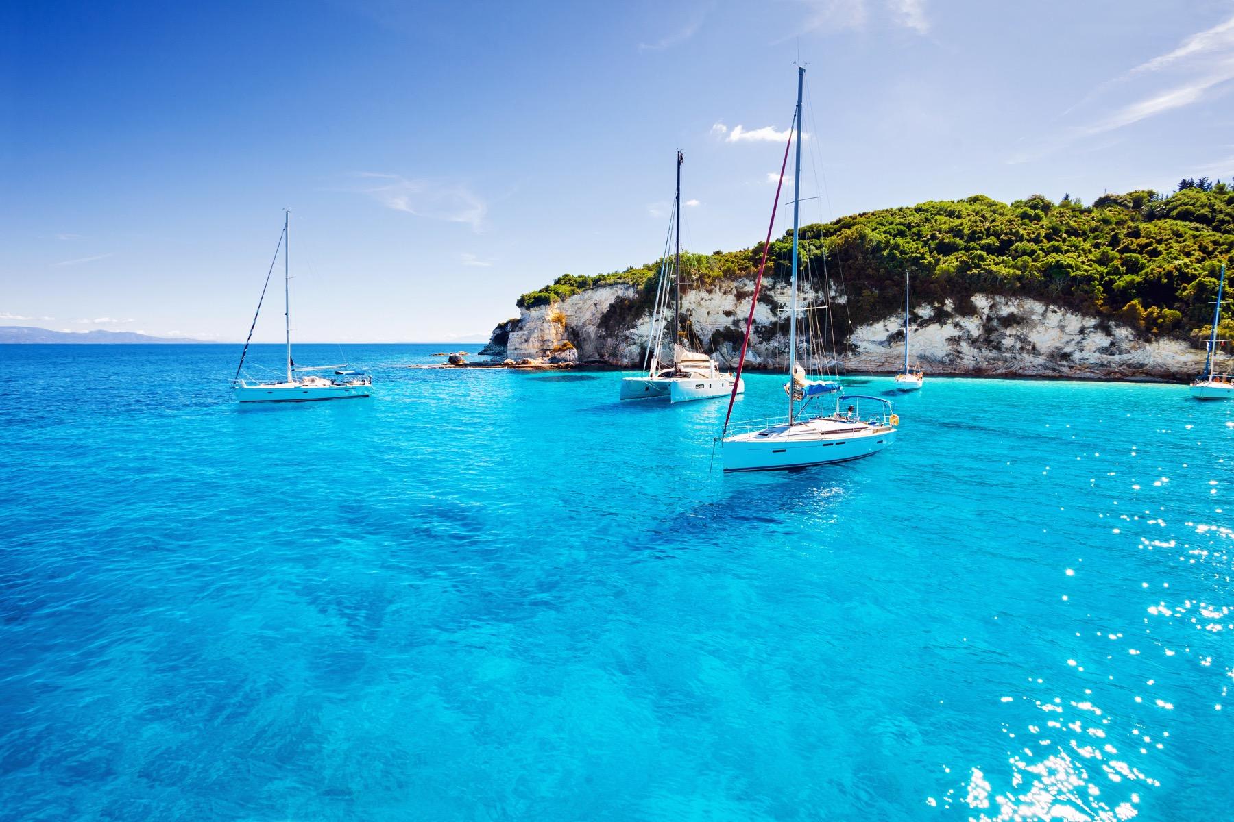 sailing iin greece Kite rin shutterstock
